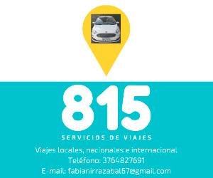 815 - Servicio de viajes